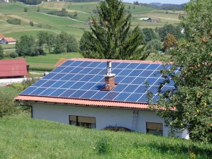 Sončna elektrarna na stanovanjski hiši